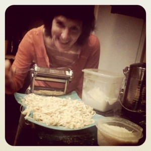 Pasta maker, pasta and me.