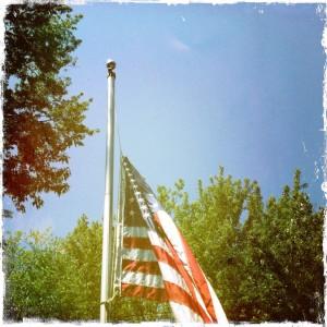 flag at half-mast