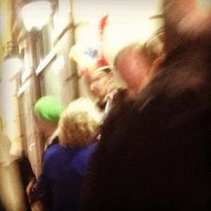 blurry crowd